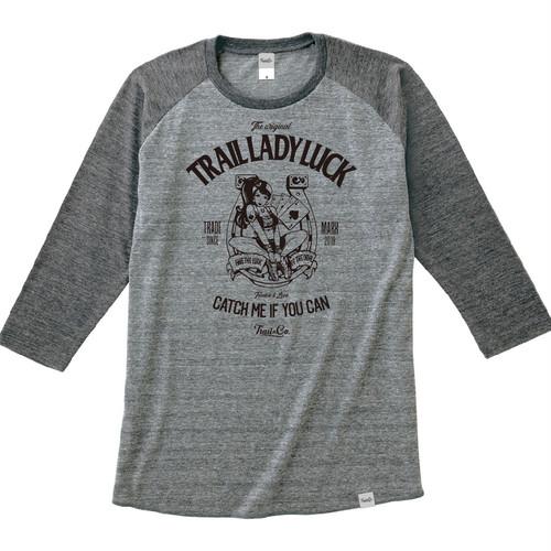 Tri Brend Raglan 3/4 Sleeve T-Shirt / TLL / Heather Gray×Heather Black