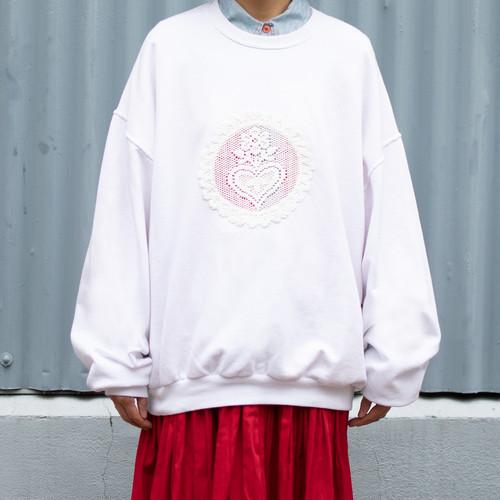 Lace Switched Sweatshirt