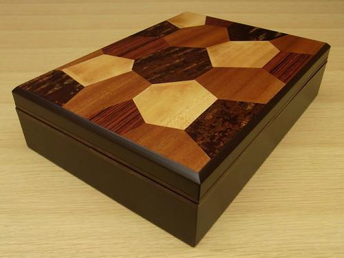 桜皮細工 × 箱根寄木細工 文庫 A4サイズ