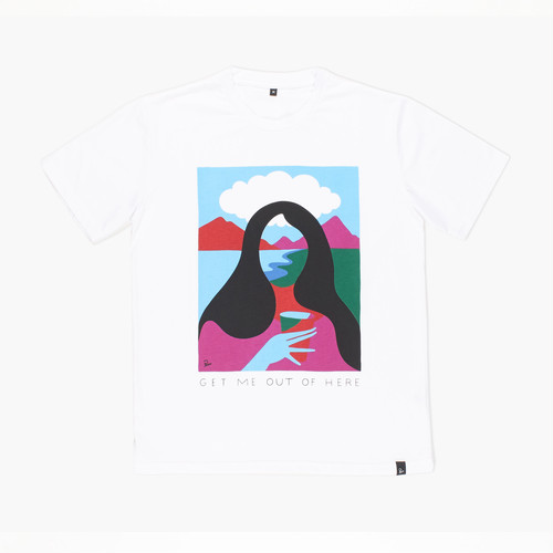 by Parra - GET ME OUT OF HERE  TEE (White)