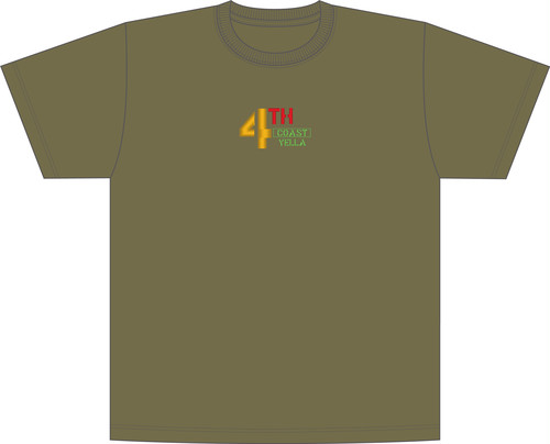 "4THCoast Yella ""Embroidered shirt"" Olive"