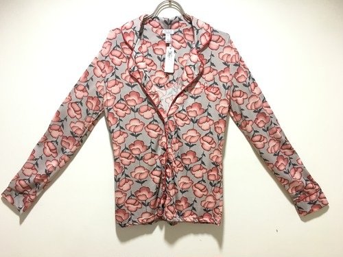 Flower cotton pajamas shirt