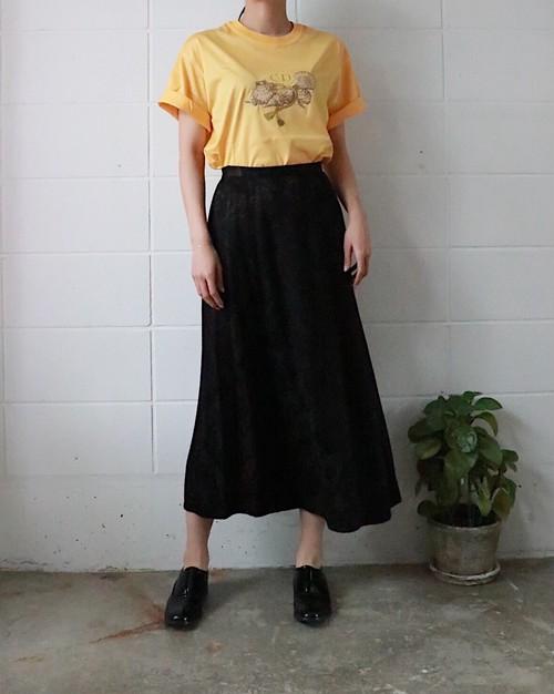 black jacquard long skirt