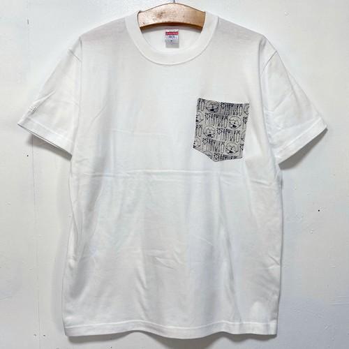 MIZYURO 2tone S/S POCKET Tshirt / WHITE