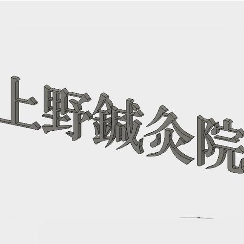 【オリジナル立体看板】 上野鍼灸院 (明朝体)