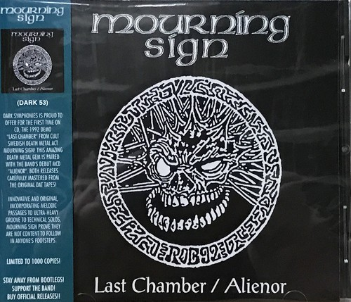 "MOURNING SIGN ""Last Chamber / Alienor Official CD"""
