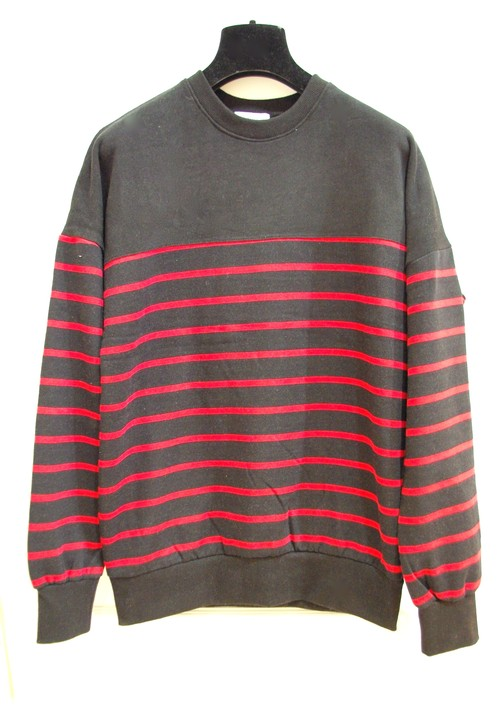 RED×BLACK Border Sweat