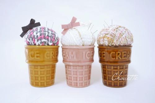 ice creamピンクッション3個制作キット