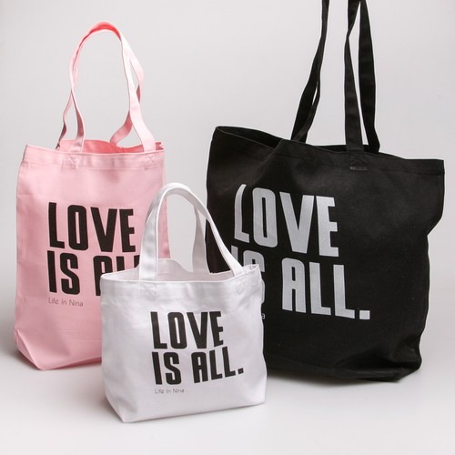 2nd Anniversary Limited Item  LOVE IS ALL. トートバック / WH・PK・BK