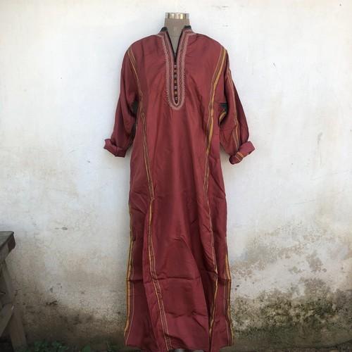 Vintage トルクメニスタン シルク織の刺繍ワンピース