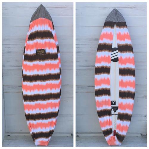 Board wax cover case -orange brown1601-s