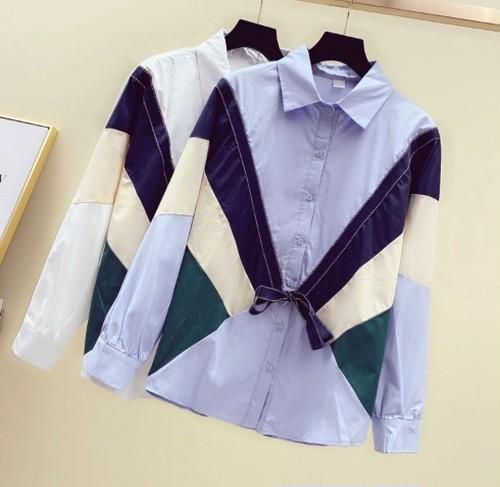 casual 配色デザインシャツ c1126