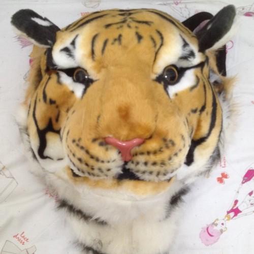 【ビッグ】タイガーリュック トラ顏リュック 虎バッグ タイガーバッグ アニマルバッグ アニマルリュック インテリア  猛虎 ホワイト ブラウン
