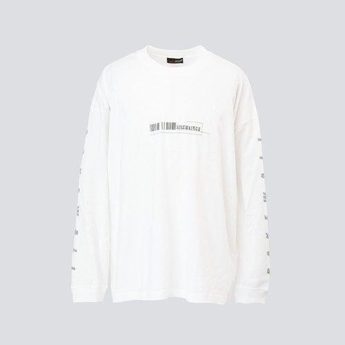 """LOCATION"" L/S T-SHIRT【 WHITE 】"