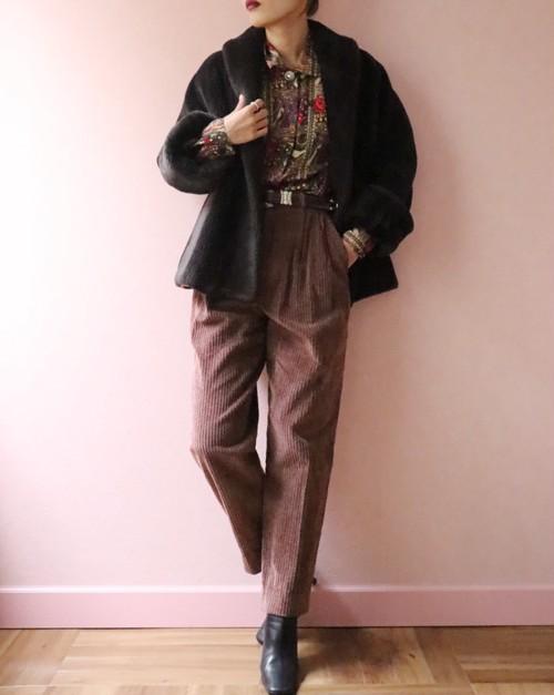 Corduroy red purple pants
