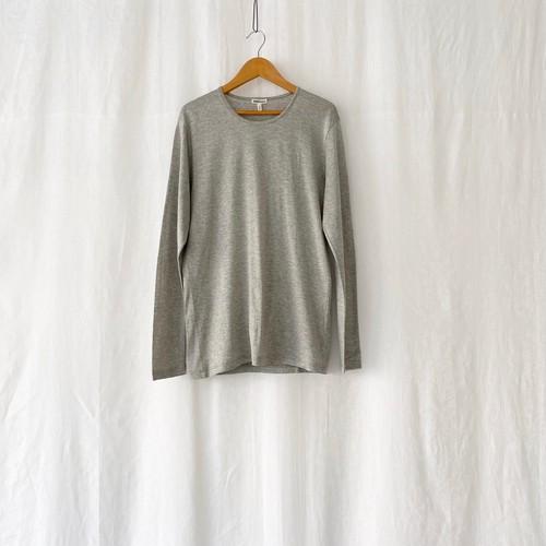 HERMES cotton L/S T shirt gray