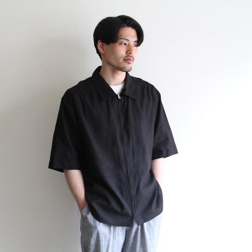 STILL BY HAND【mens】 silk linen zip shirts