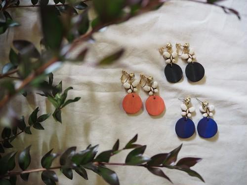 color bijou butterfly pierce/earring