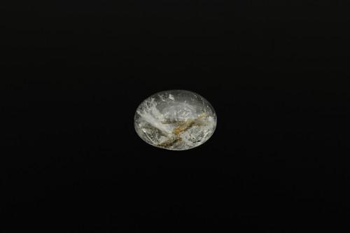 《国産》ススキ入り水晶のオーバルカボション
