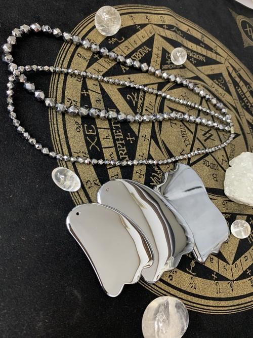 テラヘルツミラーカット ネックレス 高純度99.99%  8mm