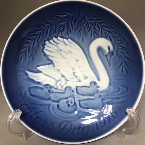 ビングオーグレンダール 白鳥の親子 1976年 マザーズデー プレート