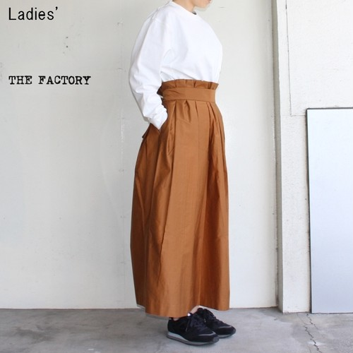 THE FACTORY モールスキンタックスカート TF18SS-0703 (BROWN)