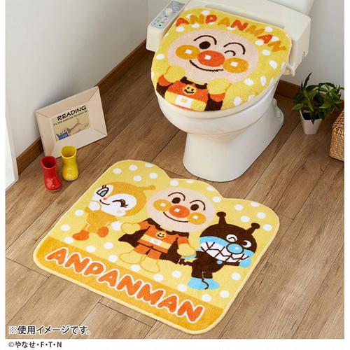 トイレ2点セット (洗浄・暖房便座用フタカバー&トイレマット) アンパンマン