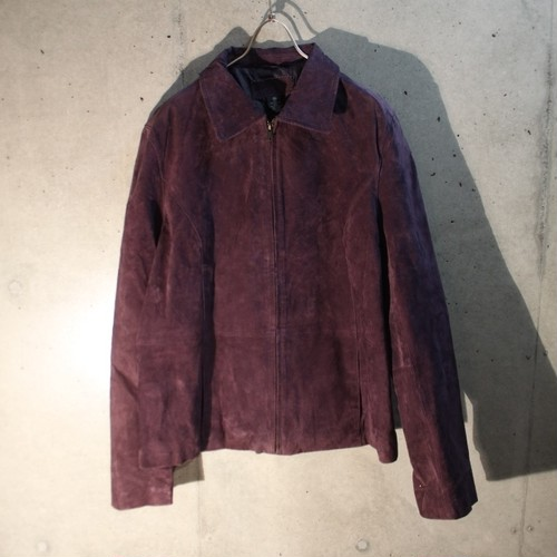 Purple Real Suede Jacket