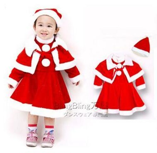 xmas8003子供用クリスマス仮装女の子クリスマス衣装X'MAS 仮装キッズジュニア クリスマスコスプレウェアパーティ衣装 コスチューム 110cm120cm130cm