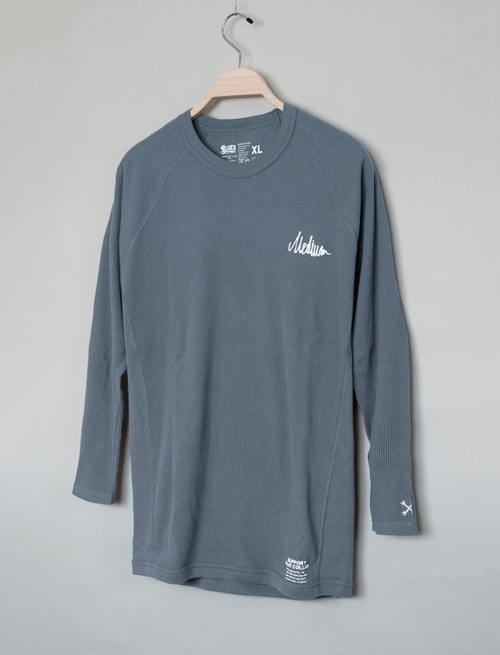 MEDIUM THE BRAND × BLUCO RAGLAN SLEEVE THERMAL-SHIRT / SLATE