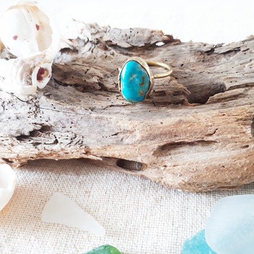 beach ring - kingman turquoise - 11号
