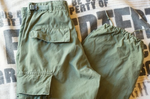 60's U.S.Army rip stop combat Trousers