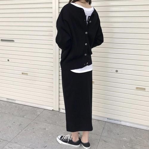 ご予約受付中!8月下旬納期【 siro de labonte 】- R143102 - 32/2cotton 2way knitスカート