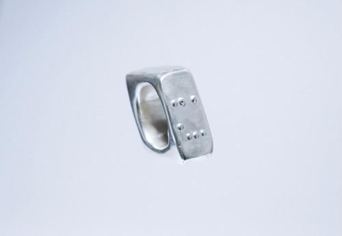 BRAILLE RING   【Rhombus】