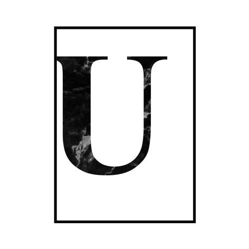 """""""U"""" 黒大理石 - Black marble - ALPHAシリーズ [SD-000522] B4サイズ ポスター単品"""