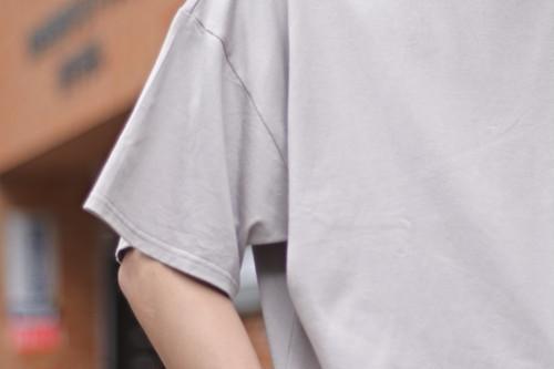 【maillot】 egyptian cotton big crew neck Tee
