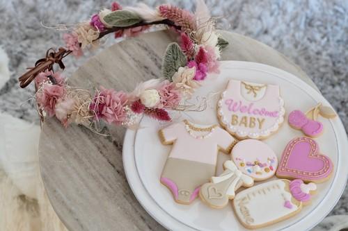 Baby花冠&アイシングクッキー《Fuchsia Pink》