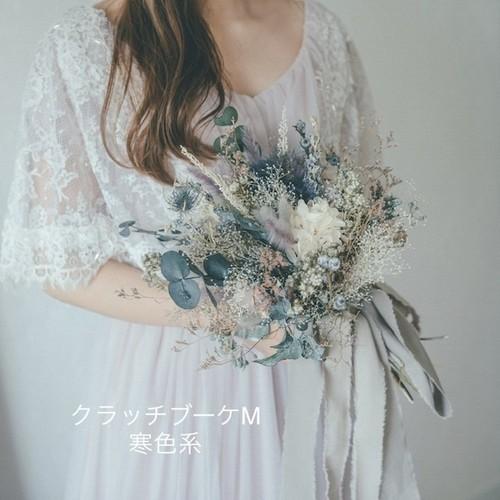 wedding bouquet set (クラッチブーケM・ヘッドドレスM・ブートニア)