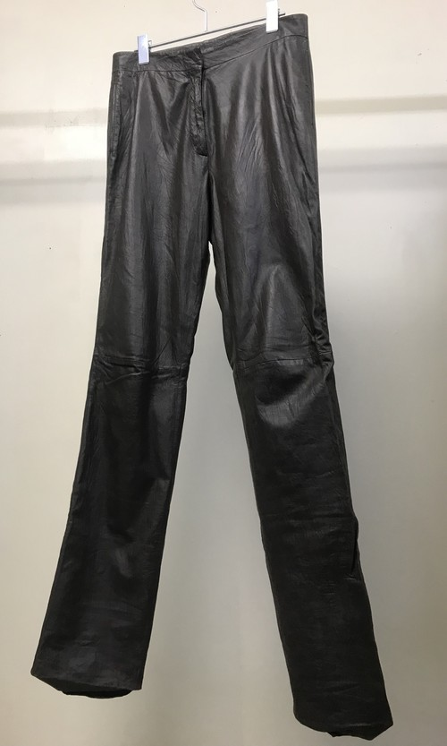 1990s JIL SANDER SMOKEY LEATHER PANTS