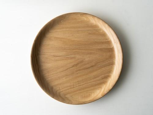 【現品限り】栗(くり) 無塗装のお盆 2〜3人用 直径約26.5cm
