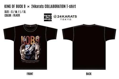 KING OF BUCK 9 × 24karats COLLABORATION T-shirt