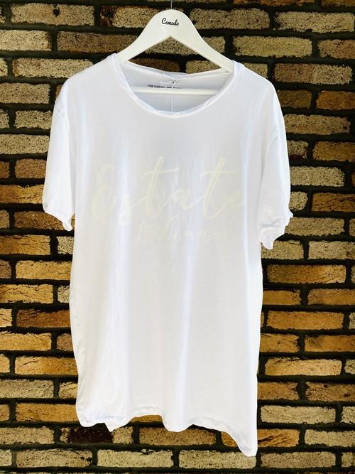 MAGLIA(マリア)T-2303 ホワイト ESTATE ITALIANA Tシャツ