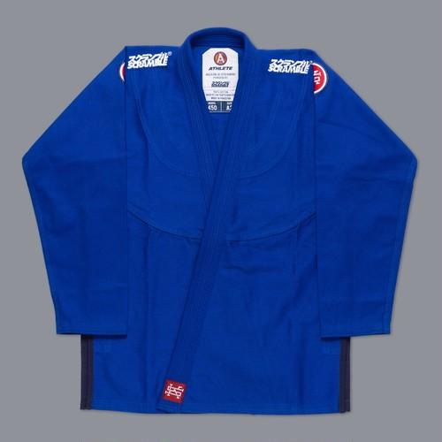 【予約注文受付中】SCRAMBLE ATHLETE 4: 450(ブルー、青)|ブラジリアン柔術衣