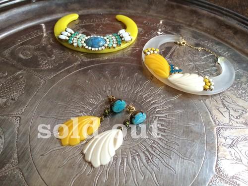 vintage pierced earrings <PE-SHcb1>