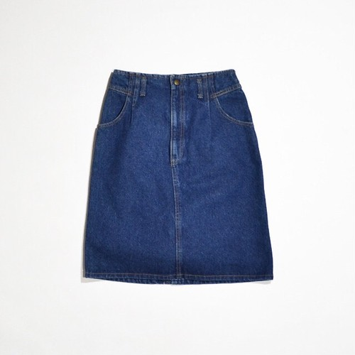 Deadstock★ Ladies Calvin Klein DENIM SKIRT / NO WAIST YOKE SKIRT