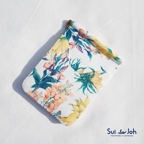 【鮮やか上品な花柄】スマートなお財布・マネークリップ