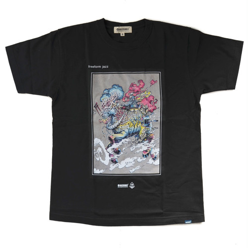 ROPH X MAGICNUMBER freeform jazz T-shirts BLACK