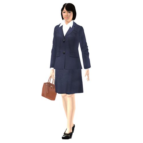 会社員-05-01(女性-歩行)