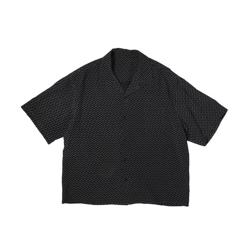 LOGO PATTERN SHIRTS / BLACK