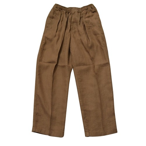 COMFORTABLE REASON / LINEN DAILY SLACKS -BROWN-